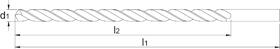 Spiraalboor lang DIN 340- 11.810 - DIN 340' cil. schacht' lange gewalste uitvoering' tophoek 118°