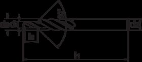 Meerfaseboor- 16.120 - cil. schacht' type N' lange traplengte