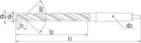 Meerfaseboor- 16.350 - DIN 8379' con. schacht