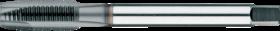 Machinetap voor doorlopende gaten' Metrisch- 22.505 - DIN 376' 60°' dunne schacht' met schilaansnijding voor doorlopende gaten' aansnijding 4-5 gangen
