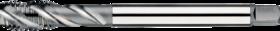 Machinetap voor blinde gaten' Metrisch- 23.301 - DIN 376' 60°' dunne schacht' spiraalhoek 40°' voor blinde gaten' aansnijding 2'5 gangen' snijlengte 10 gangen teruglopend naar de 5e gang