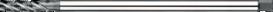 Machinetap voor blinde gaten' Metrisch- 23.370 - 60°' verdikte schacht' spiraalhoek 40°' voor blinde gaten' aansnijding 2'5 gangen' snijlengte 10 gangen teruglopend naar de 5e gang