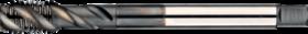 Machinetap voor blinde gaten' Metrisch- 23.501 - DIN 376' 60°' dunne schacht' spiraalhoek 45°' voor blinde gaten' aansnijding 2'5 gangen' snijlengte 10 gangen teruglopend naar de 5e gang