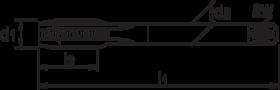 Machinetap voor doorlopende gaten' BSP (gasdraad)- 25.095 - DIN 5156' 55°' dunne schacht' met schilaansnijding voor doorlopende gaten' aansnijding 3'5-6 gangen