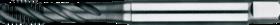 Machinetap voor blinde gaten' Metrisch- 23.324 - DIN 371' 60°' verdikte schacht' spiraalhoek 40°' voor blinde gaten' aansnijding 2'5 gangen' snijlengte 10 gangen teruglopend naar de 5e gang