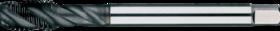 Machinetap voor blinde gaten' Metrisch- 23.325 - DIN 376' 60°' dunne schacht' spiraalhoek 40°' voor blinde gaten' aansnijding 2'5 gangen' snijlengte 10 gangen teruglopend naar de 5e gang