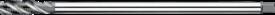 Machinetap voor blinde gaten' Metrisch- 23.371 - 60°' dunne schacht' spiraalhoek 40°' voor blinde gaten' aansnijding 2'5 gangen' snijlengte 10 gangen teruglopend naar de 5e gang