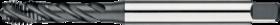 Machinetap voor blinde gaten' Metrisch- 23.400 - DIN 371' 60°' verdikte schacht' spiraalhoek 40°' voor blinde gaten' aansnijding 2'5 gangen' snijlengte 10 gangen teruglopend naar de 5e gang