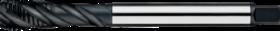 Machinetap voor blinde gaten' Metrisch- 23.401 - DIN 376' 60°' dunne schacht' spiraalhoek 40°' voor blinde gaten' aansnijding 2'5 gangen' snijlengte 10 gangen teruglopend naar de 5e gang
