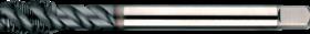 Machinetap voor blinde gaten' Metrisch- 23.455 - DIN 376' 60°' dunne schacht' spiraalhoek 40°' voor blinde gaten' aansnijding 2'5 gangen' snijlengte 10 gangen teruglopend naar de 5e gang