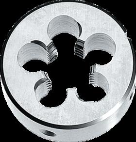Snijplaat rond' BSPT (conische gasdraad)- 27.530 - DIN EN 24230' 55°' voor hand- en machinaal gebruik