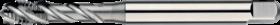 Machinetap voor blinde gaten' UNC- 24.340 - DIN 371' 60°' verdikte schacht' spiraalhoek 40°' voor blinde gaten' aansnijding 2'5 gangen' snijlengte 10 gangen teruglopend naar de 5e gang