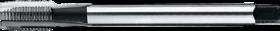 Machinetap voor doorlopende gaten' UNF- 24.521 - DIN 376' 60°' dunne schacht' met schilaansnijding voor doorlopende gaten' aansnijding 5 gangen
