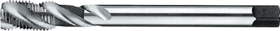 Machinetap voor blinde gaten' UNF- 24.741 - DIN 376' 60°' dunne schacht' spiraalhoek 40°' voor blinde gaten' aansnijding 2'5 gangen' snijlengte 10 gangen teruglopend naar de 5e gang