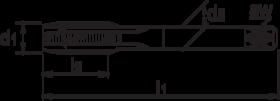 HSS - Machinetap - Phantom - BSP (gasdraad) - 25.105