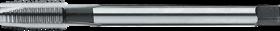 Machinetap voor doorlopende gaten' BSW (whitworth)- 25.521 - DIN 2183' 55°' dunne schacht' met schilaansnijding voor doorlopende gaten' aansnijding 5 gangen