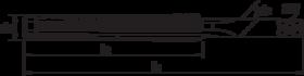 Machinetap voor blinde en doorlopende gaten' trapezium- 25.950 - 30°' met geleidestift' tolerantie 7H' voor doorlopende gaten