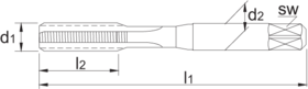 Handtap' Metrisch links- 29.910 - ISO 529' 60°' set à 3 stuks