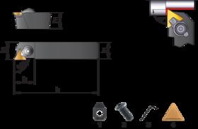 Wisselplaathouder CTGPR/L- 72.156 - Mesbeitel CTGPR/L' voor wisselplaten TPMR' TPUN' TPUX