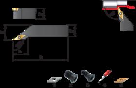 Wisselplaathouder SVJCR/L- 72.515 - Kopieerbeitel SVJCR/L' voor wisselplaten VCMT' VCGT