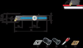 Wisselplaathouder A-SDUCR/L- 72.600 - voor kopieerwerk' voor wisselplaten DCGT' DCXT' DCMT