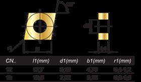 HM-Wisselplaten CNMG- 73.230 -