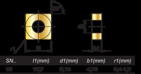 HM-Wisselplaten SNMG- 73.395 -
