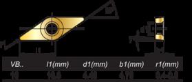 HM-Wisselplaten VBMT- 73.815 -