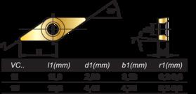 HM-Wisselplaten VCGT- 73.830 -