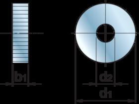 Freeskartelrol HSS- 75.182 - DIN 403' voor kartelrolhouder type MFCNCS en MFCNC 20x25 en 25x25