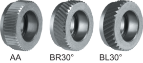 Drukkartelrol HSS- 75.197 - DIN 403' voor kartelrolhouder type MCNCS en MCNC