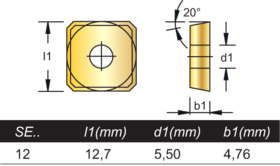 Freeswisselplaat SEHT HM- 76.615 -
