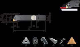 Wisselplaathouder S-CTFPR/L- 72.540 - Blindboorbeitel S-CTFPR/L' voor wisselplaten TPMR' TPUN' TPUX