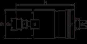 Tapapparaat- 81.700 - met omkeerinrichting en met instelbare slipkoppeling' voor gebruik met spantangen' met inwendige B-opname