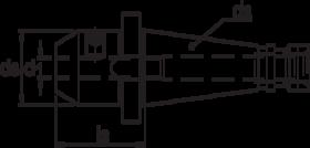Weldonhouder- 82.153 - DIN 6359' met SK-opname volgens DIN 2080' oppervlaktegehard HRc 58±2