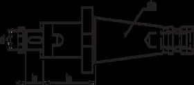 Kombi-opsteekfreeshouder- 82.323 - DIN 6358' met SK-opname volgens DIN 2080' oppervlaktegehard HRc 58±2