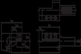 Torax VDI-houder DIN 69880, uitvoering C1, axiaal, rechts