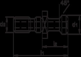 Aantrekbout- 84.775 - ISO 7388/2B