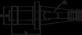 Boorhuls- 84.203 - DIN 6383' met SK-opname volgens DIN 2080' oppervlaktegehard HRc 58±2' met een treksterkte in de kern van min. 950 N/mm²' tolerantie AT3' rondloopnauwkeurigheid van 0'005 mm
