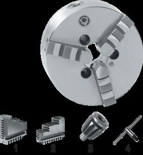 Drie-klauwplaat zelfcentrerend- 85.421 - DIN 55026' vervaardigd uit staal