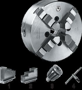 Vier-klauwplaat zelfcentrerend- 85.510 - DIN 6350' vervaardigd uit staal