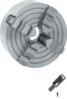 Vier-klauwplaat onafhankelijk- 85.603 - DIN 55029' vervaardigd uit gietijzer