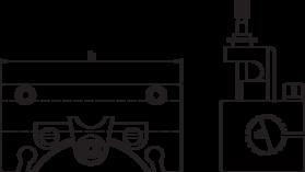 Snelwisselhouder- 85.053 - voor de opname van o.a. morsekonushulzen