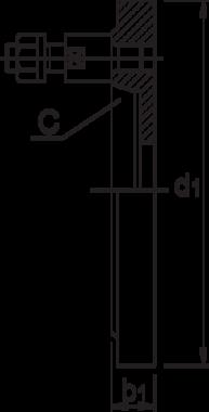 Klauwplaatflens- 85.961 - vervaardigd uit gietijzer' met directe opname volgens DIN 55027 (Bajonet)' voorgedraaide onbewerkte uitvoering' BISON-type 8232