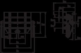 Opspantafel- 87.400 - opspanvlak voorzien van horizontale en verticale T-gleuven' zwenkbereik 0°-90°