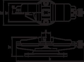 Machineklem- 88.250 - met draaiplaat met 360° gradenverdeling