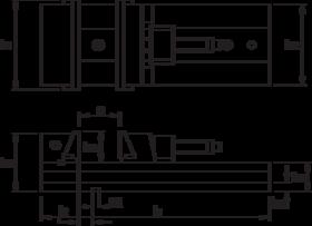 Machineklem- 88.430 - bij uitstek geschikt voor frees- en slijpwerk' met hoge repeteernauwkeurigheid