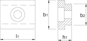 T-gleufsteen- 88.616 - DIN 6322-A' voor het uitrichten van machineklemmen' mallen e.d.' met uitrichtgleuf 20 mm
