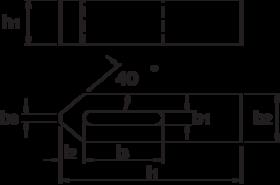 Spanijzer- 88.650 - DIN 6314' uit veredeld staal' gelakt