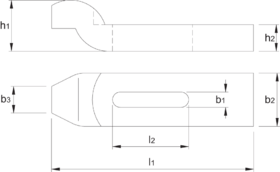 Spanijzer- 88.675 - DIN 6316' uit veredeld staal' gelakt